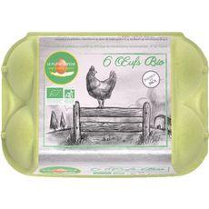 LA PLUME BLANCHE Oeufs de poules bio 6 oeufs