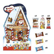 KINDER Calendrier de l'Avent chocolats et biscuits 210g