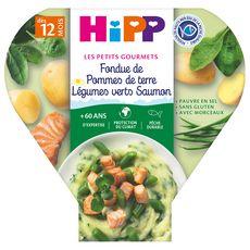 HIPP Assiette pommes de terre légumes verts saumon dès 12 mois 230g