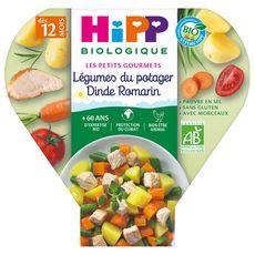 HIPP Assiette légumes du potager dinde romarin bio dès 12 mois 230g