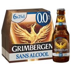 GRIMBERGEN Bière blonde sans alcool bouteilles 6x25cl