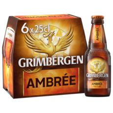 GRIMBERGEN Bière ambrée 6,5% bouteilles 6x25cl