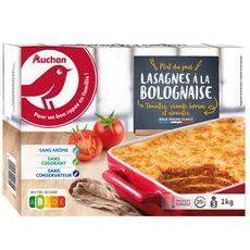 AUCHAN Lasagnes à la bolognaise 4 portions 1kg