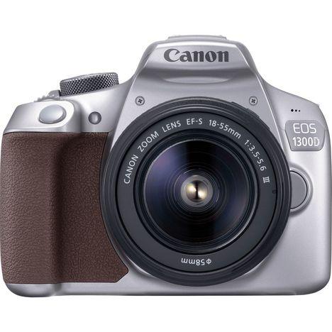 appareil photo reflex eos 1300d gris objectif 18 55 mm canon pas cher prix auchan. Black Bedroom Furniture Sets. Home Design Ideas