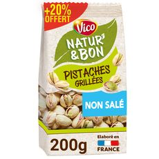 VICO Natur'& bon Pistaches grillées non salé 200g+ 20% offert
