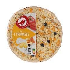 AUCHAN Pizza 4 fromages 450g