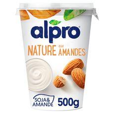 ALPRO Dessert végétal soja nature aux amandes 500g
