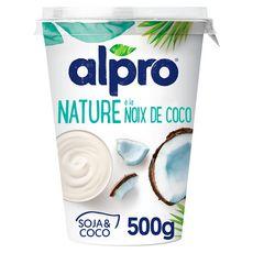 ALPRO Dessert végétal soja nature noix de coco 500g