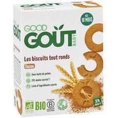 GOOD GOUT Biscuits tout ronds au cacao bio dès 10 mois 80g