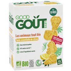 Good Goût GOOD GOUT Goûter biscuits à l'huile essentielle de citron dès 10 mois