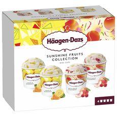 HAAGEN DAZS Mini pot de crème glacée au citron et jus de mandarine 4 pièces 320g