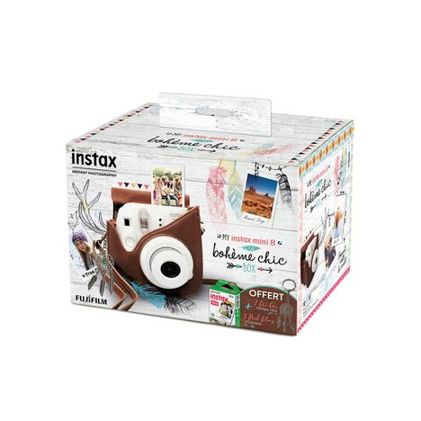 instax mini 8 blanc appareil photo instantan fujifilm pas cher prix auchan. Black Bedroom Furniture Sets. Home Design Ideas
