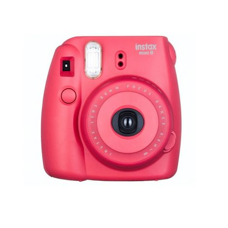 instax mini 8 rouge appareil photo instantan fuji pas cher prix auchan. Black Bedroom Furniture Sets. Home Design Ideas