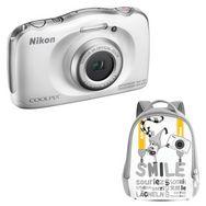 NIKON COOLPIX W100 - Blanc - Appareil photo compact + Sac