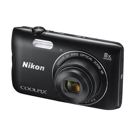 coolpix a300 noir appareil photo compact nikon pas cher prix auchan. Black Bedroom Furniture Sets. Home Design Ideas