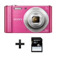 SONY Appareil Photo Compact - DSC-W810 - Rose - Objectif 4.6-27.6 mm + Carte SD 8 Go