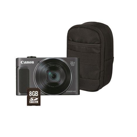 CANON Appareil Photo Compact - PowerShot SX620 HS - Noir - Objectif 4.5-112.5 mm + Housse + Carte SD 8 Go