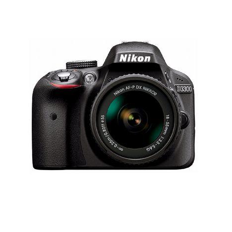 NIKON Appareil Photo Reflex -  D3300 - Noir + Objectif 18-55 mm