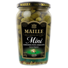 MAILLE Mini cornichons petits croquants saveur originale 210g