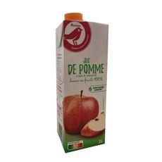 AUCHAN Jus de pomme à base de concentré sans sucres ajoutés 1l