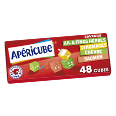 APERICUBE Cubes de fromage apéritif Tonic 48 cubes 250g