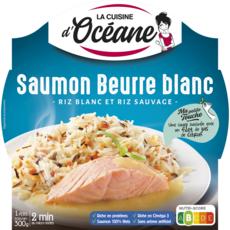 LA CUISINE D'OCEANE Saumon beurre blanc, riz blanc et sauvage 1 personne 300g