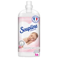 SOUPLINE Adoucissant concentré hypoallergénique au lait d'amande douce 56 lavages 1,3l