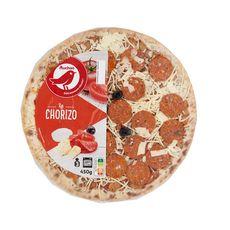 AUCHAN Pizza au chorizo 450g