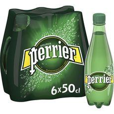 PERRIER Eau minérale naturelle gazeuse bouteilles 6x50cl