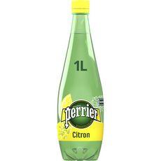 PERRIER Eau gazeuse aromatisée au citron 1l