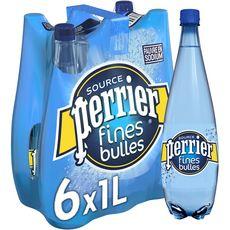 PERRIER Eau minérale naturelle gazeuse fines bulles 6x1l