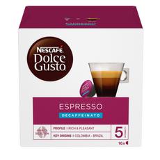 DOLCE GUSTO Capsules de café Espresso décaféiné compatibles Dolce Gusto 16 capsules 96g