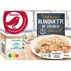 AUCHAN Blanquette de volaille et riz XXL 1 portion 450g