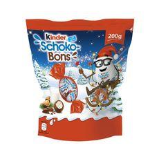 KINDER Schokobons Bonbons de chocolat fourrés au lait et aux noisettes 200g