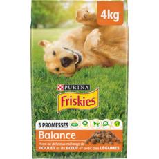 FRISKIES Balance croquettes au poulet, boeuf et aux légumes pour chien 4kg