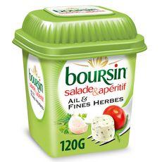 BOURSIN Salade & Apéritif Dés de fromage ail et fines herbes 120g