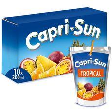 CAPRI-SUN Boisson au jus de fruit goût tropical poches 10x20cl