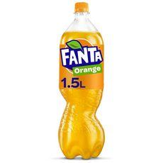 FANTA Boisson gazeuse au jus d'orange avec sucre et édulcorants 1,5l