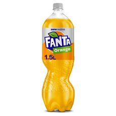 FANTA Boisson gazeuse au jus d'orange avec édulcorants zéro 1,5l