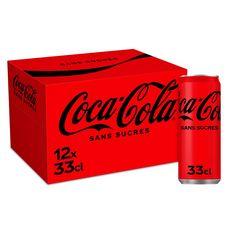 COCA-COLA Boisson gazeuse aux extraits végétaux zéro boîtes slim 12x33cl