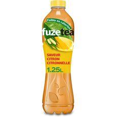 FUZE TEA Thé noir glacé saveur citron et citronnelle 1,25l