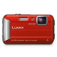 PANASONIC Appareil Photo Compact - Etanche - Lumix DMC-FT30 - Rouge + Objectif 4.5-18 mm