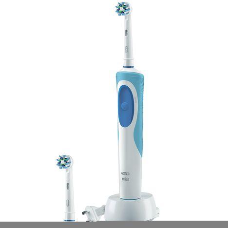 brosse dents lectrique vitality plus crossaction oral b pas cher prix auchan. Black Bedroom Furniture Sets. Home Design Ideas