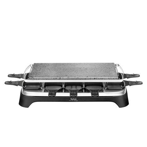 TEFAL Pierrade Inox et design PR457812 - 1350W, 10 convives