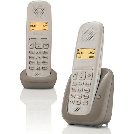GIGASET Téléphone fixe - A150 - Taupe