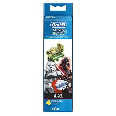 ORAL-B Lot de 4 têtes de brosse à dents EB10 Star Wars