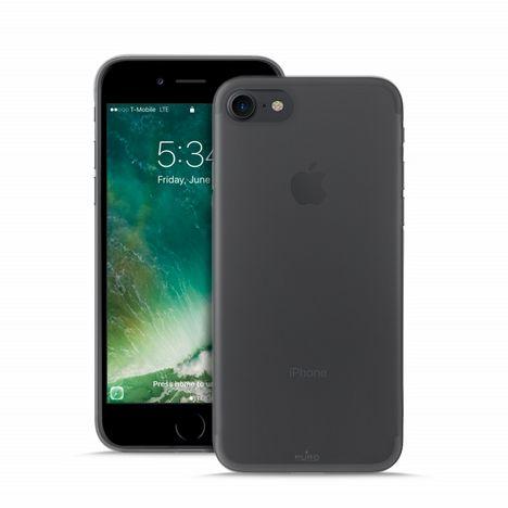 PURO Coque avec protection d'écran pour iPhone 7/7 Plus - Noir