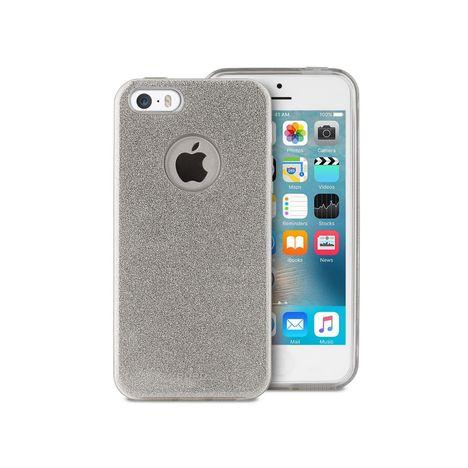 PURO Coque pour iPhone 5-5S-SE - Argent pailleté