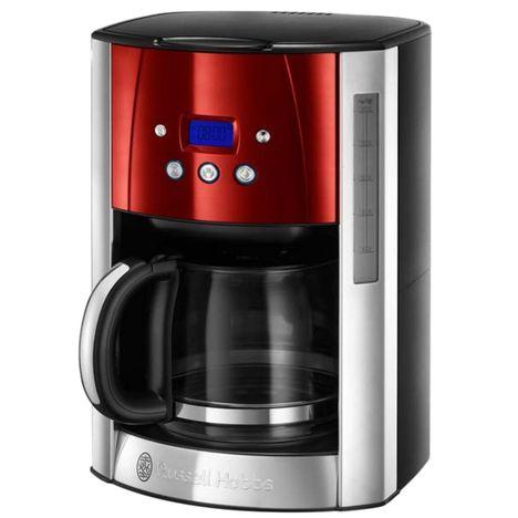 RUSSELL HOBBS Cafetière programmable Luna 23240-56 - Rouge et Inox