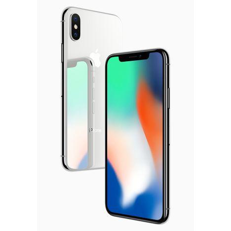 Iphone X - 256 Go - 5,8 pouces - Argent APPLE pas cher à prix Auchan 87e8806ce624